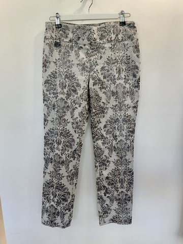 Lisette Grey Floral Pants