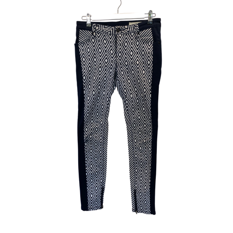 Sass and Bide navy geometric jeans