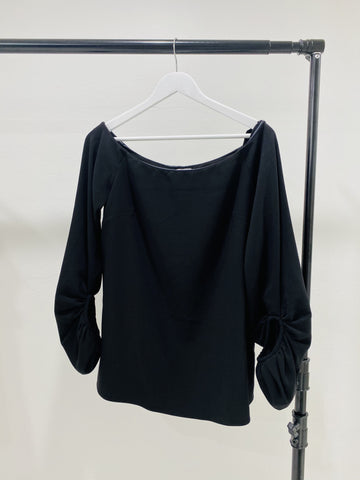 Camilla and Marc long sleeve blouse in black