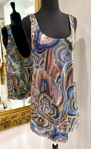 Bec and Bridge multicoloured sequin dress