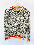 Rich & Royal leopard print bomber jacket