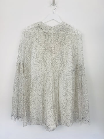 Alice McCall white lace playsuit size 10