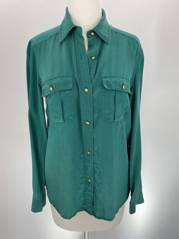 Marc Jacobs green silk blouse
