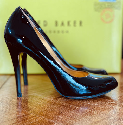Ted Baker black patent leather heels