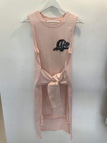 AJE Pink T Shirt Dress
