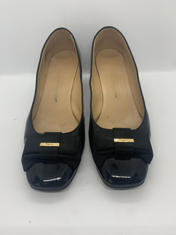Ferragamo Black Patent Shoes