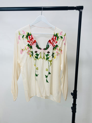 Alice McCALL Embroidered Pink Blouse