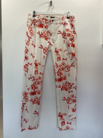 Armani Exchange Red Pattern Jeans