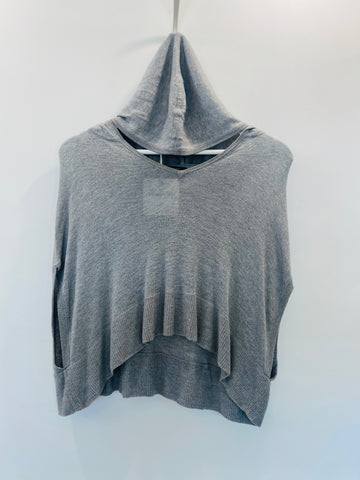 Ginger & Smart grey cropped knit with hood