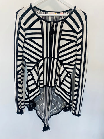 Sass and Bide black/white speakeasy jacket