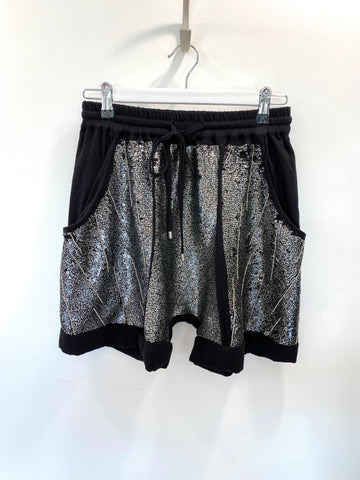 Sass and bide silver sequin shorts