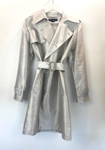 Ralph Lauren silver trench coat