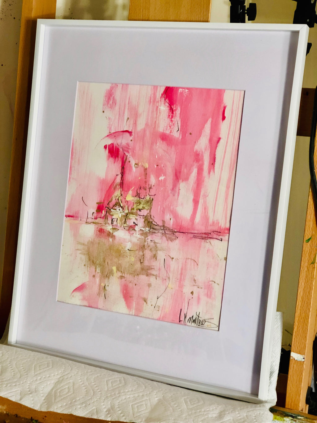 "Electric Pink I | 20"" h x 16"" w 