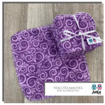Ensemble de 10 lingettes Volutes mauves