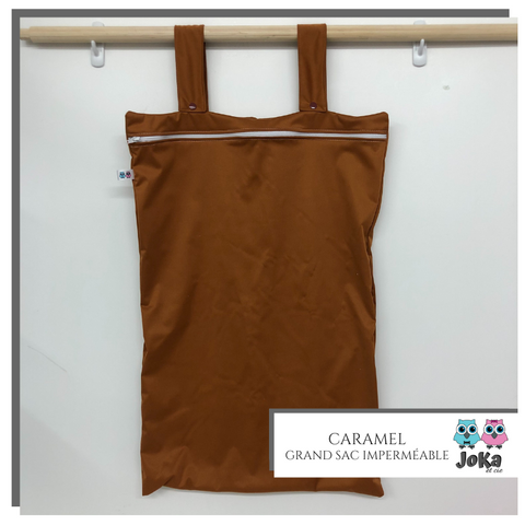 Grand sac imperméable Uni Caramel