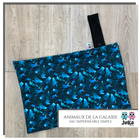 Sac imperméable simple Animaux de la galaxie