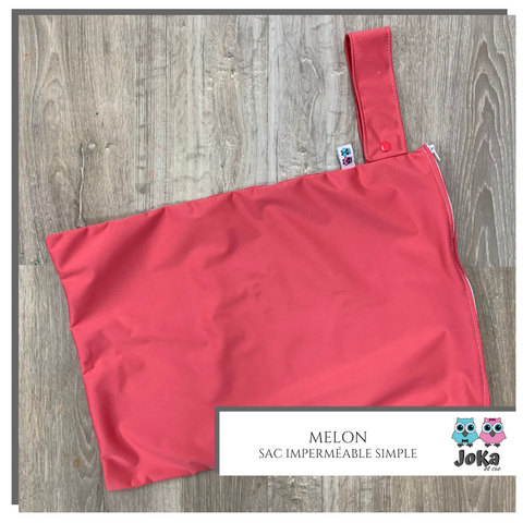 Sac imperméable simple Uni Melon