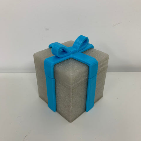 Sparkling silver gift box