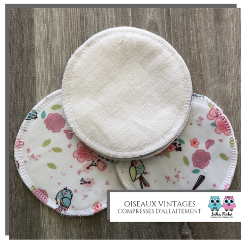 Breastfeeding pads Oiseaux vintages