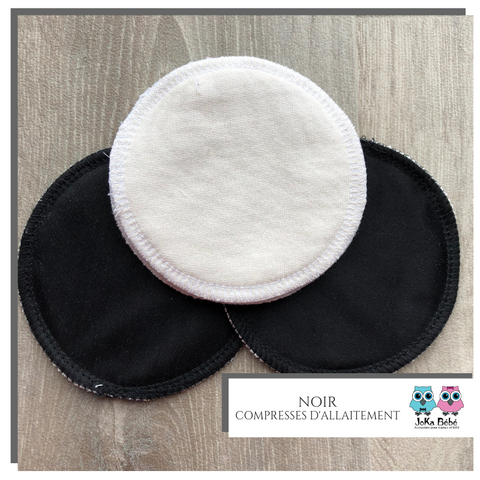Breastfeeding pads black