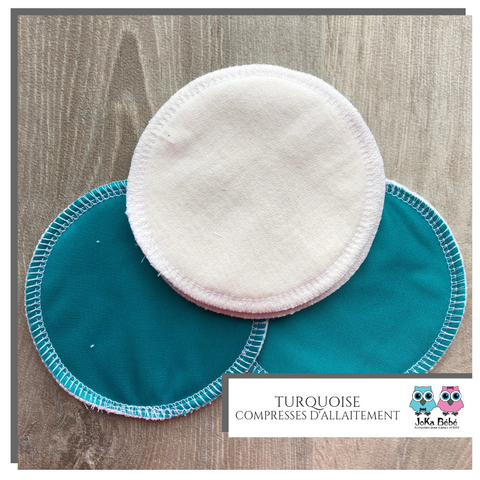 Breastfeeding pads teal