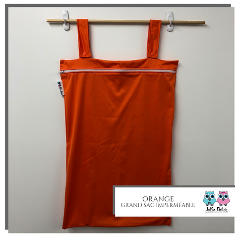 Grand sac imperméable Uni Orange