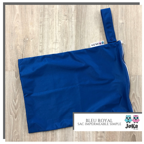 Sac imperméable simple Uni Bleu royal