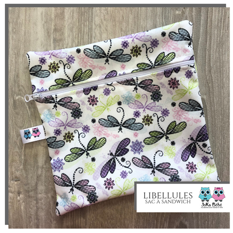 Lunch bag Libellules