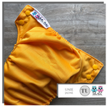 Yellow cloth diaper