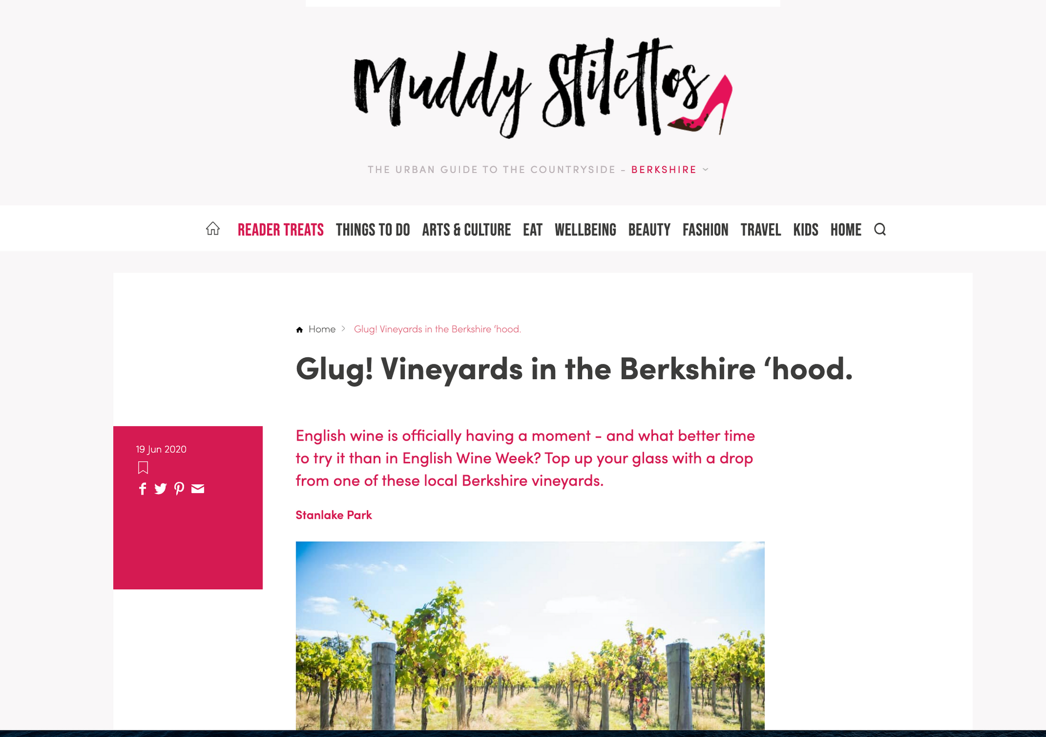 Muddy Stilettos - Best English wines from Berkshire's vineyards