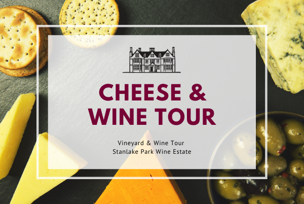 Sunday 16th August 2020 at 2 pm - Cheese & Wine Tour