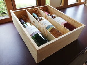 Wine Pine Box - 3 bottles