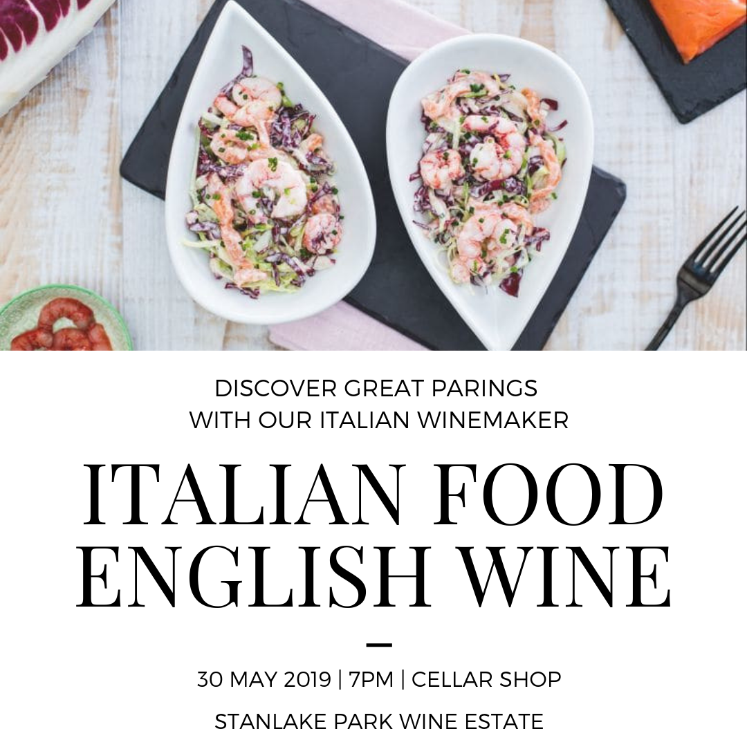 Italian Food & English Wine - Thursday 30 May - 7pm