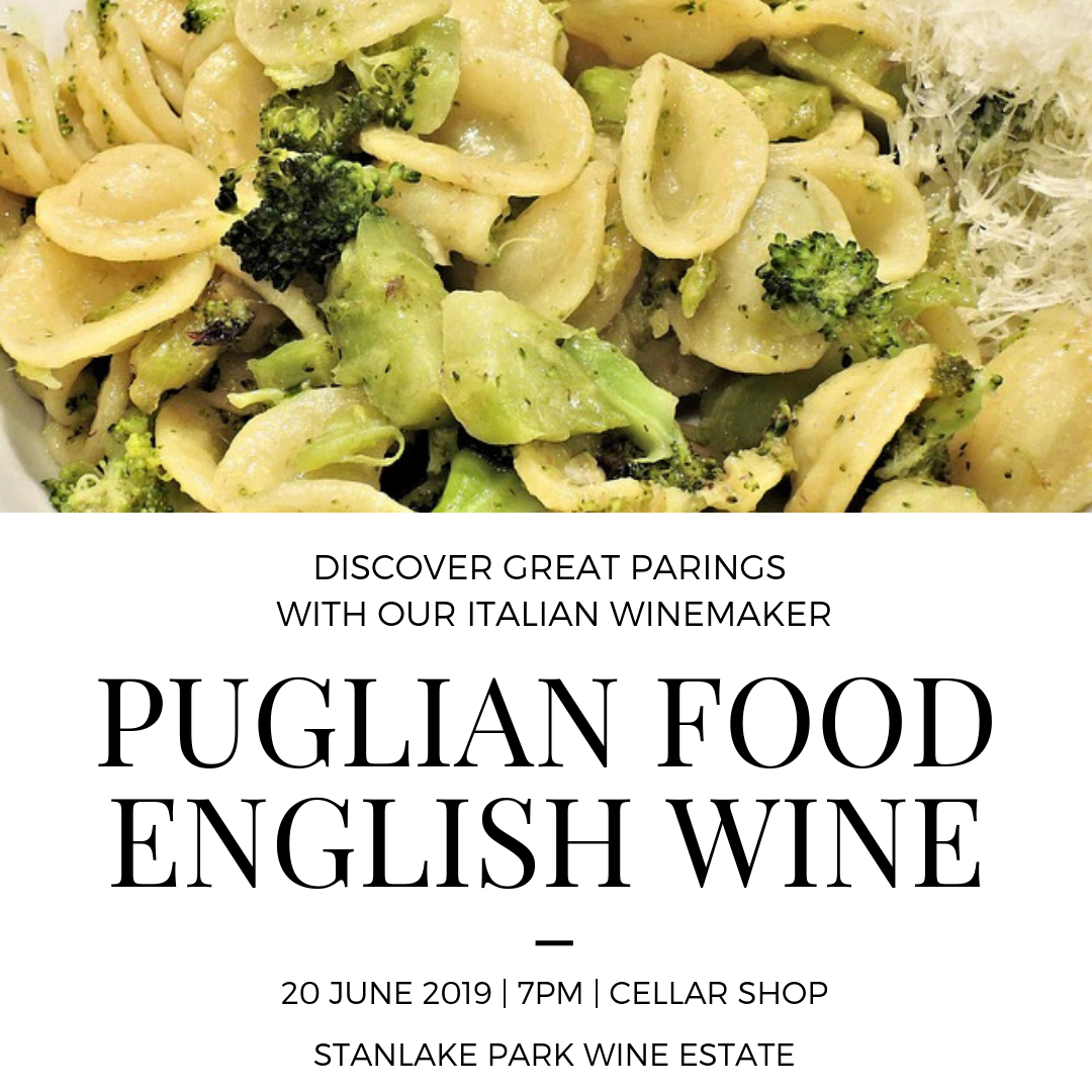 Puglian Food & English Wine - Thursday 20 June - 7pm