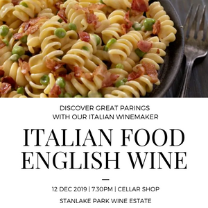 Italian Food & English Wine - Thursday 12th December - 7.30 pm