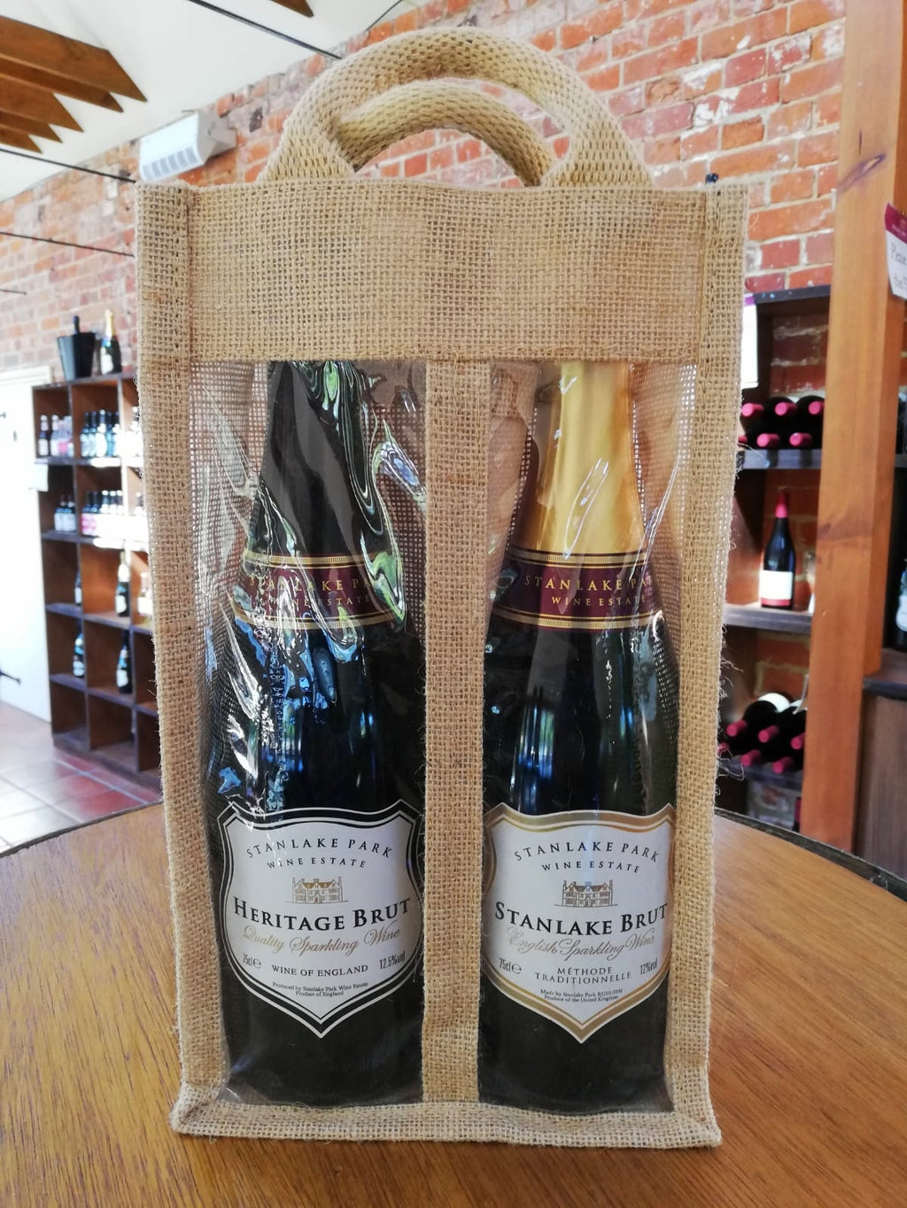 jute wine bag bottles