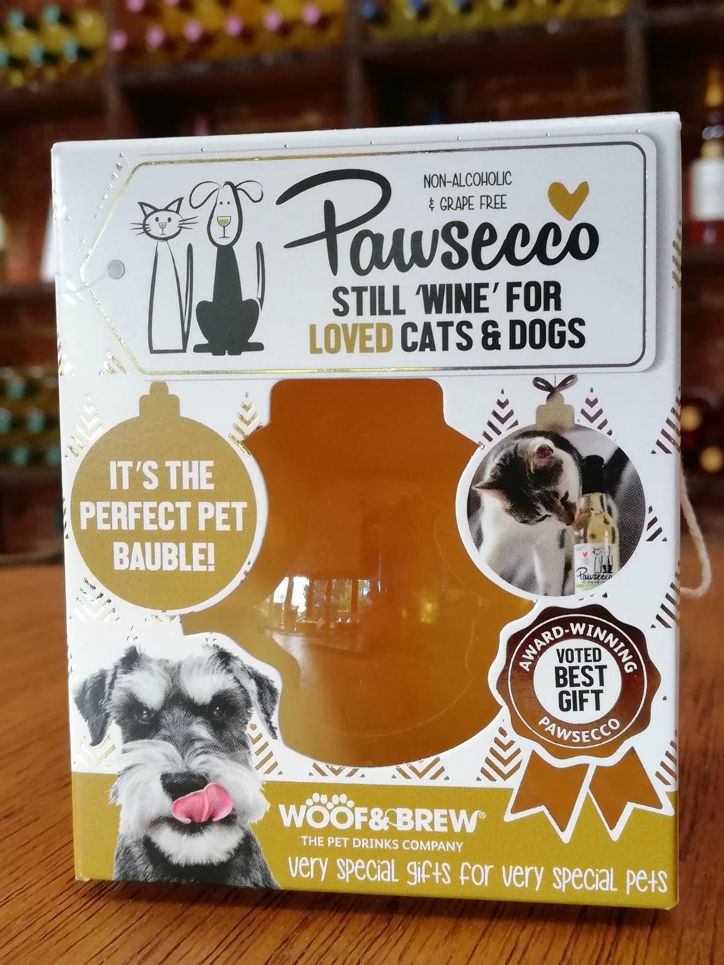 Pawsecco Christmas Bauble