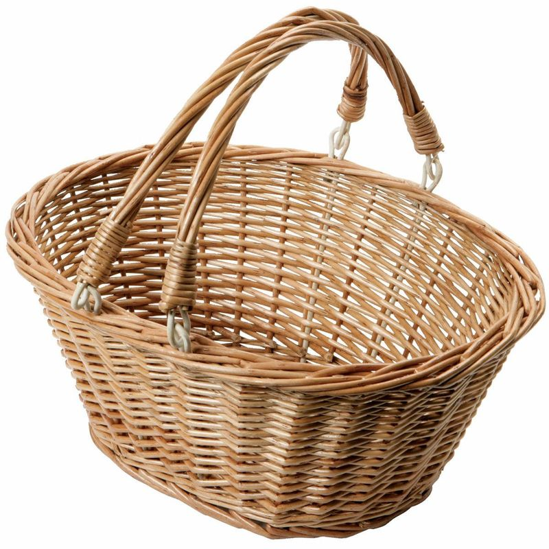 Large Oval Wicker Basket