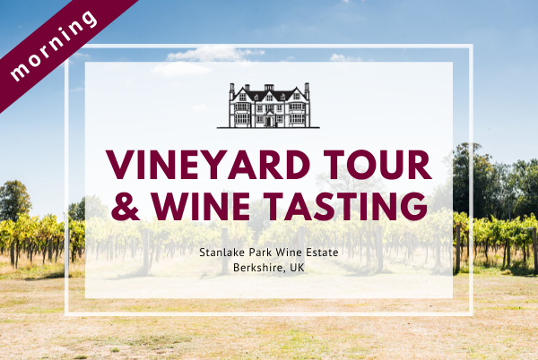 Saturday 21st March 2020 at 11 am - Vineyard Tour & Wine Tasting