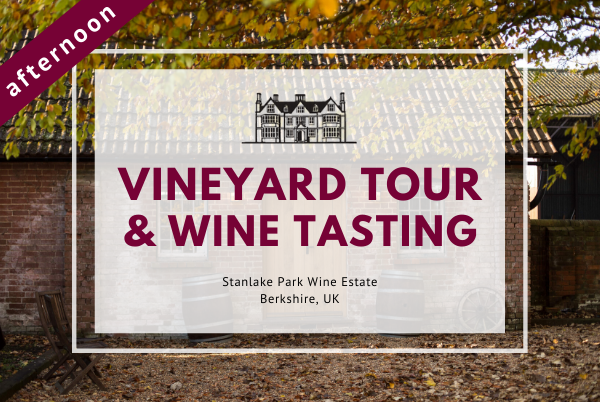 Sunday 15th November 2020 at 2 pm - Vineyard Tour & Wine Tasting