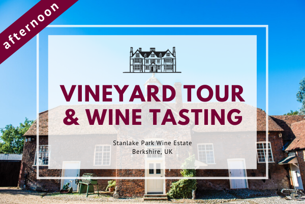 Sunday 15th March 2020 at 2 pm - Vineyard Tour & Wine Tasting