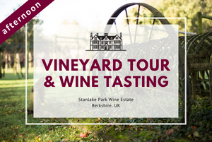 Sunday 19th April 2020 at 2 pm - Vineyard Tour & Wine Tasting