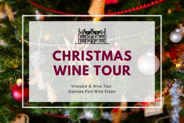 Saturday 4th December 2021 at 11 am - CHRISTMAS Wine Tour & Tasting