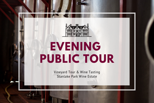 Friday 12th July 2019 7pm - EVENING PUBLIC Vineyard & Winery Tasting Tour