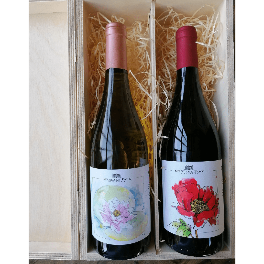 White and Red Wine Double Gift Box
