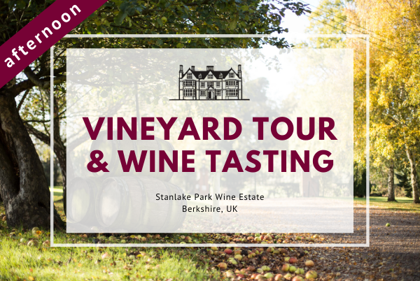 Saturday 13th June 2020 at 2 pm - Vineyard Tour & Wine Tasting