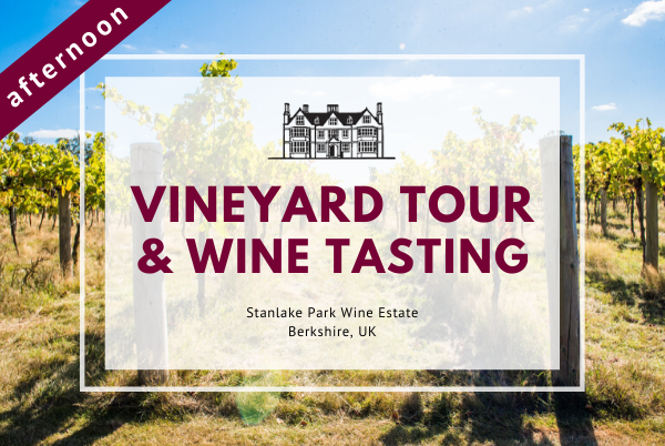 Sunday 26th July 2020 at 2 pm - Vineyard Tour & Wine Tasting