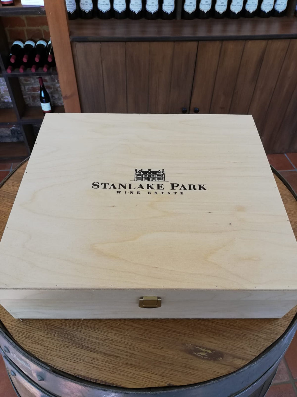 wooden gift box wine