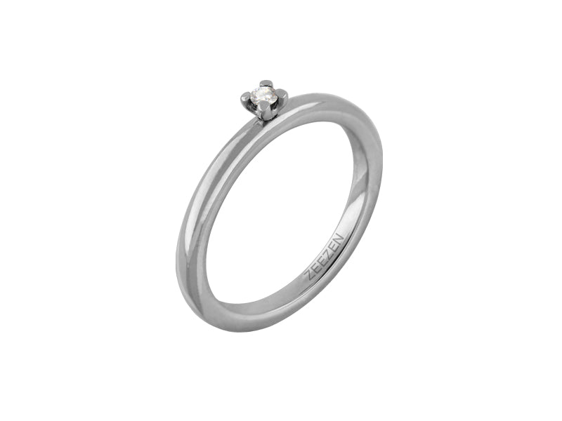 Zeezen Ring Titan 0,03Ct 4.236.02