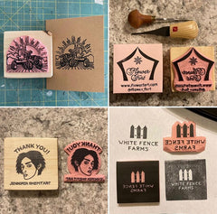 Custom Stamp Samples by Goat & Pebble Co.